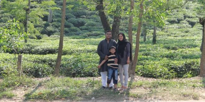 Tareq Salahuddin with his family